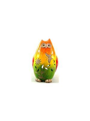 Садовая фигура - Сова Marquis. Цвет: желтый, зеленый, оранжевый