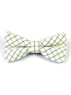 Галстук-бабочка Churchill accessories. Цвет: синий, белый, голубой