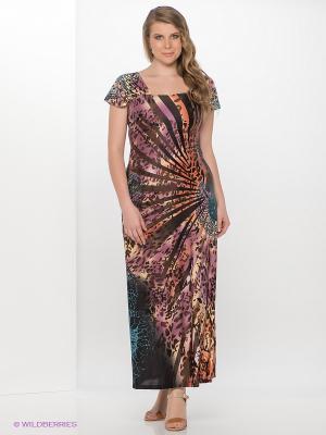 Платье МадаМ Т. Цвет: коричневый, фиолетовый