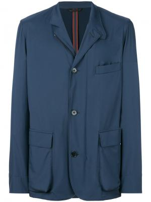 Куртка в стиле блейзера Loro Piana. Цвет: синий