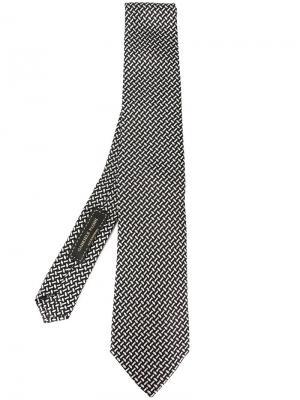 Тканый галстук Gabriele Pasini. Цвет: чёрный