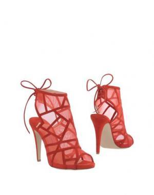 Полусапоги и высокие ботинки ROBERTO FESTA. Цвет: красный