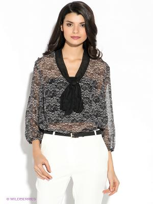 Блузка Oodji. Цвет: черный, серый