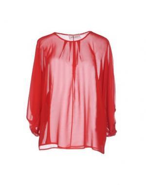 Блузка POIS. Цвет: красный
