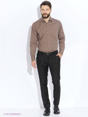 Рубашка Maestro. Цвет: коричневый