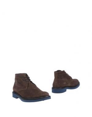 Полусапоги и высокие ботинки GOLD BROTHERS. Цвет: коричневый