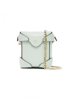 Микро сумка через плечо Pristine Manu Atelier. Цвет: зелёный