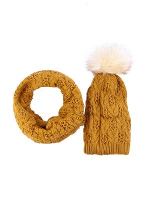 Комплект: шапка + снуд Bijoux Land. Цвет: горчичный
