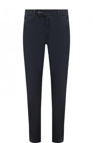 Хлопковые брюки прямого кроя Bogner. Цвет: темно-синий