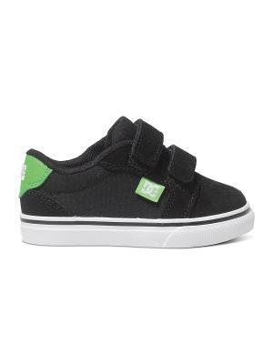 Кеды DC Shoes. Цвет: черный, салатовый