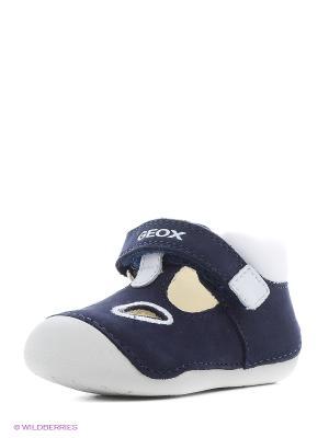 Кроссовки GEOX. Цвет: синий, белый