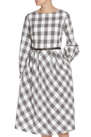 Платье-миди NATALIA PICARIELLO. Цвет: белый, черный