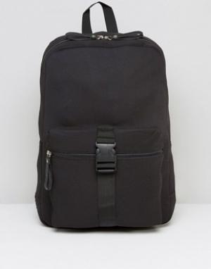 Systvm Рюкзак с пряжкой спереди. Цвет: черный