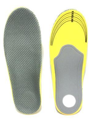 Стельки Ортопедические Eleon. Цвет: серый, желтый