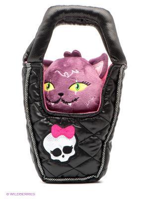 Игрушка плюшевая Кот Полумесяц Monster High. Цвет: черный, фиолетовый