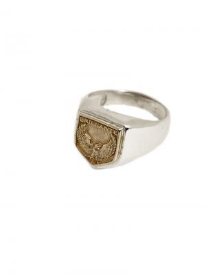 Перстень Brillante1980. Цвет: серебристый, золотистый