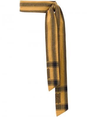 Ремень с контрастным принтом Cecilie Copenhagen. Цвет: жёлтый и оранжевый