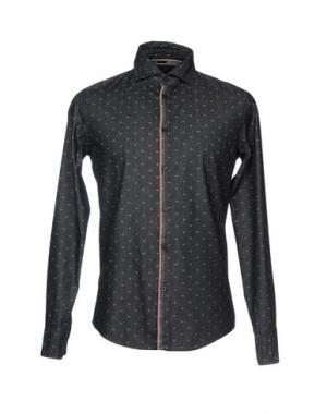 Джинсовая рубашка ARMANI JEANS. Цвет: стальной серый
