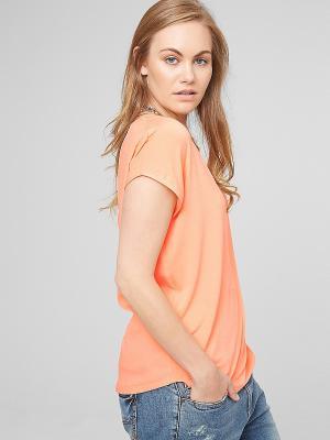 Футболка S.OLIVER. Цвет: светло-оранжевый