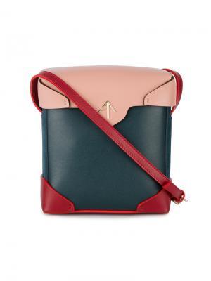 Мини-сумка через плечо Pristine Manu Atelier. Цвет: синий