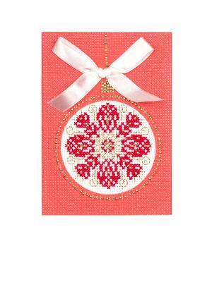 Набор для создания открытки Новогодний подарок Матренин Посад. Цвет: красный, белый