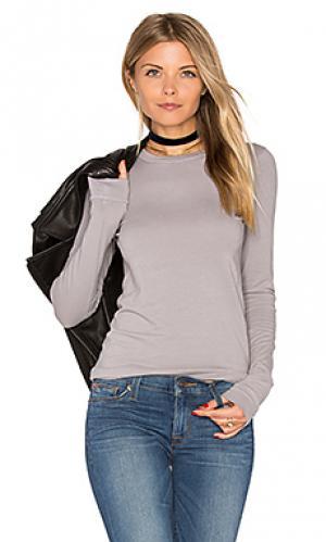 Топ с круглым вырезом и длинным рукавом bold Enza Costa. Цвет: серый