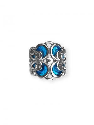 Каффа Ажурная с эмалью KU&KU. Цвет: синий, лазурный, серебристый