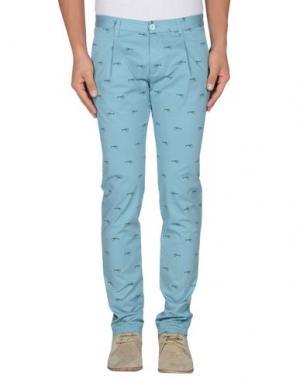 Повседневные брюки OFFICINA 36. Цвет: небесно-голубой