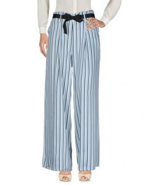 Повседневные брюки UFFICIO 87. Цвет: небесно-голубой