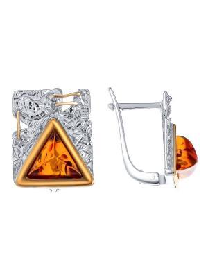 Серьги Балтийское золото. Цвет: бронзовый, золотистый, оранжевый, рыжий, светло-оранжевый