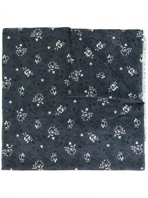 Платок с цветочным узором Paul & Joe. Цвет: синий