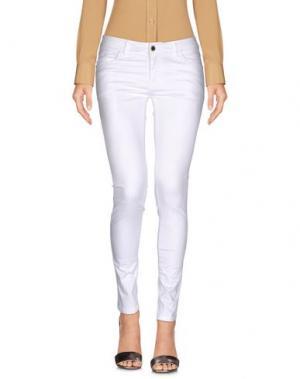 Повседневные брюки YES ZEE by ESSENZA. Цвет: белый