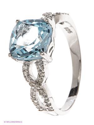Кольцо Art Silver. Цвет: серебристый, голубой