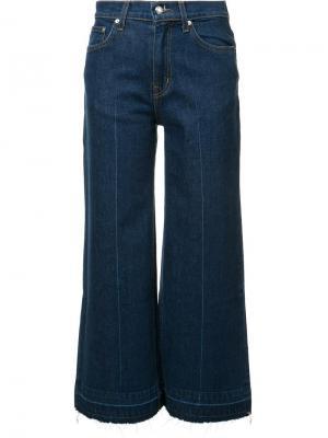 Широкие джинсы Derek Lam 10 Crosby. Цвет: синий