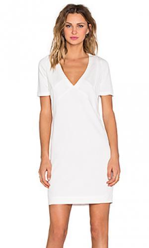 Платье-футляр IKKS Paris. Цвет: белый
