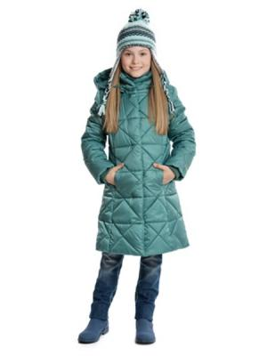 Пальто S`Cool. Цвет: бирюзовый
