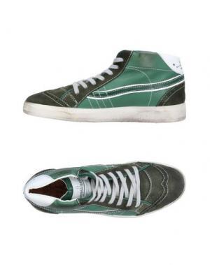 Высокие кеды и кроссовки PRIMABASE. Цвет: зеленый-милитари