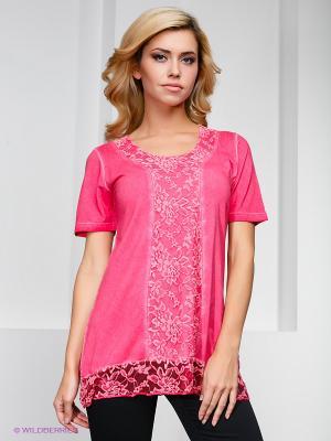 Блузка Hegler. Цвет: розовый