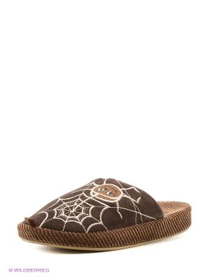 Тапочки детские Dream Feet. Цвет: коричневый