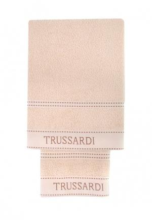 Комплект полотенец 2 шт. Tru Trussardi. Цвет: бежевый