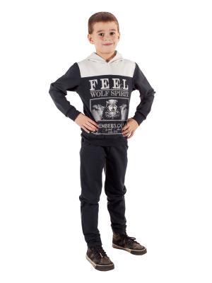 Комплект одежды Апрель. Цвет: темно-серый, бежевый