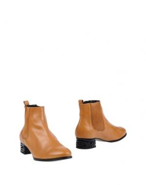 Полусапоги и высокие ботинки MIISTA. Цвет: желто-коричневый