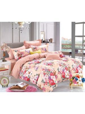 Постельное белье, евро 1st Home. Цвет: розовый, персиковый