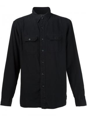 Рубашка с карманами Rrl. Цвет: чёрный