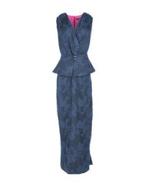 Длинное платье IVAN MONTESI. Цвет: ярко-синий