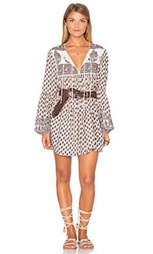 Платье с рукавами boho is best AUGUSTE. Цвет: румянец