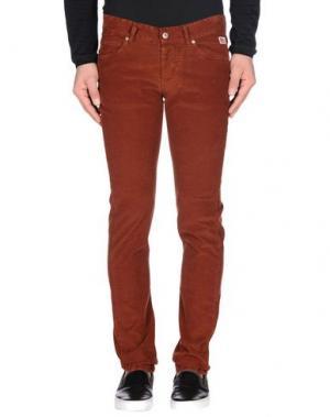 Повседневные брюки ROŸ ROGER'S. Цвет: ржаво-коричневый