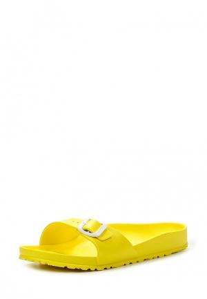 Сланцы Birkenstock. Цвет: желтый