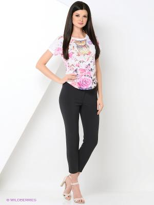 Футболка Taya jeans. Цвет: белый, розовый