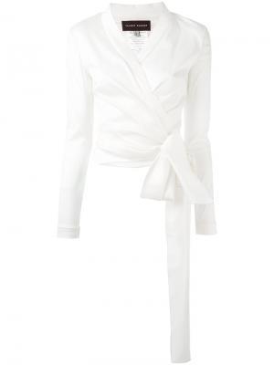 Блузка Naxos Talbot Runhof. Цвет: белый